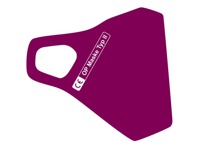 Zertifizierte Schutzmaske in Lila