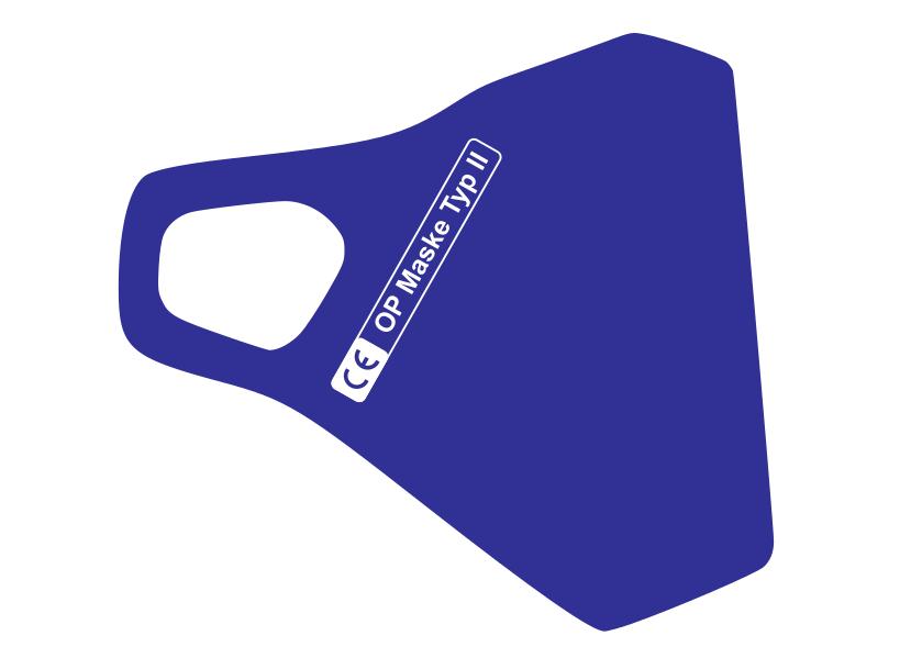 Zertifizierte Schutzmaske in Blau (royal)