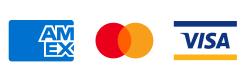 Kreditkarten Logos AmEx Mastercard VISA