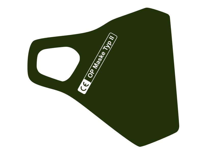 Zertifizierte Schutzmaske in Dunkelgrün