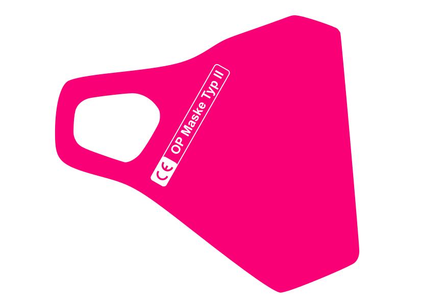 Zertifizierte  Schutzmaske in Pink